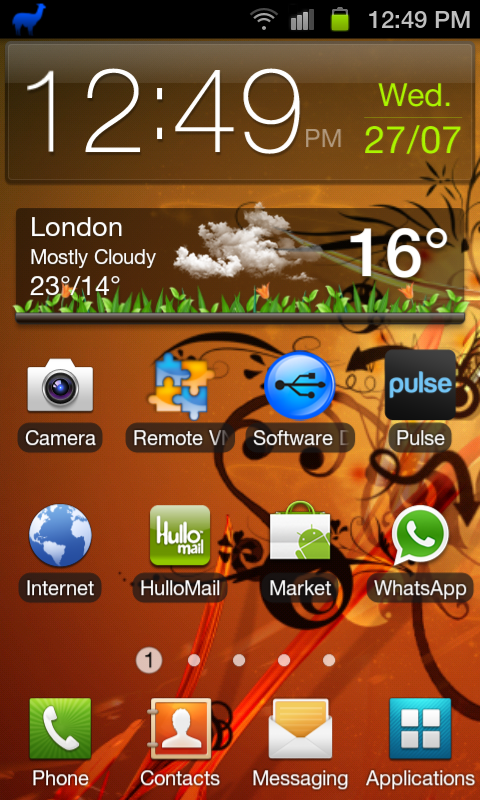 Home Screen Galaxy S2 Stock ROM