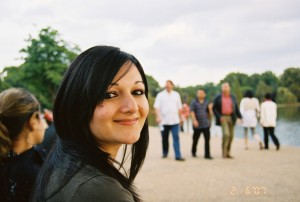 Samra Ali Naqvi at Hyde Park in 2007